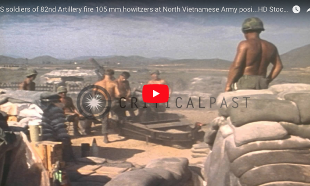 Blasting 105mm Howitzers at NVA Position – US 82nd Airborne