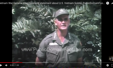 General Westmoreland statement about US Vietnam Soldier