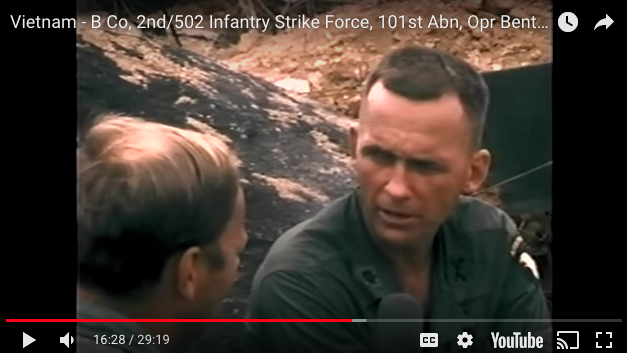 Interviews with B Co, 2nd/502 Infantry Strike Force, 101st Abn, Opr Benton-1967